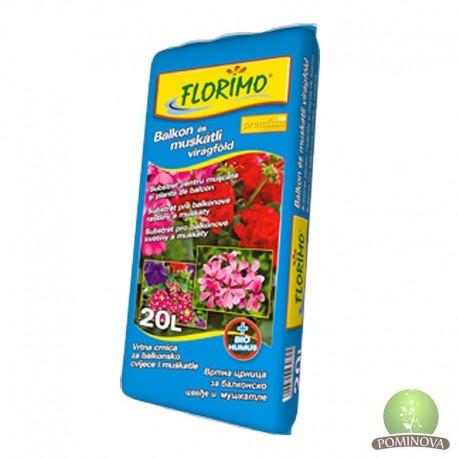 FLORIMO® Balkon és Muskátli virágföld (pH 6,6 +-0,5)